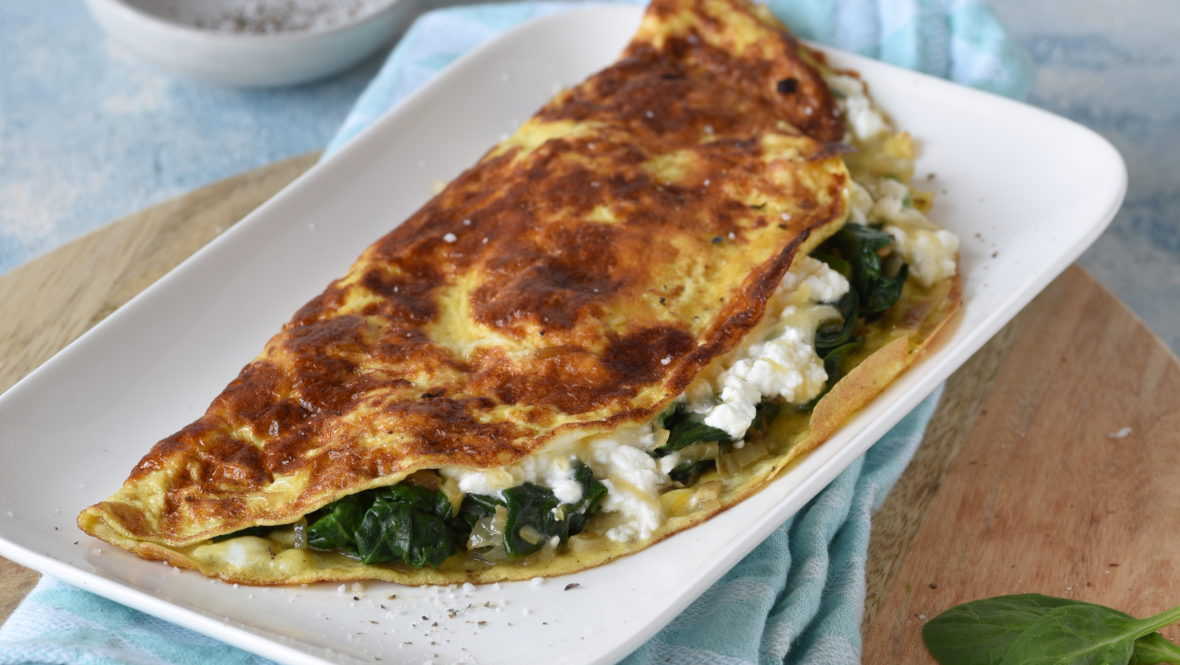 Leckeres Spinat-Omelett